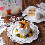 グルテンフリー ケーキミックスのデコレーションケーキ