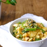 小松菜とゆで卵のオイごまマヨサラダ