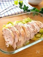 レンチンで簡単♪お肉柔らか♡鶏胸肉のレンチン蒸し