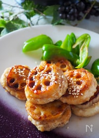 『ご飯進みます!鶏肉と豆腐のヘルシーレンコンバーグ#卵不使用』