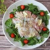 サラダ感覚で食べる!激ウマ♡鯛のカルパッチョガーリック風味