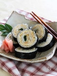 青菜とあさりの信田海苔巻き