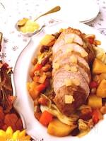 豚もも肉とお豆のポットロースト~りんごジャム仕立て