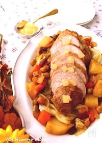 『豚もも肉とお豆のポットロースト~りんごジャム仕立て』