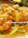 ぷりっぷり食感♪残り野菜と海老の中華風塩炒め