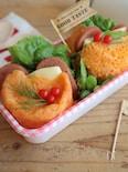 【15分弁当】レンジで1分♡イタリアン蒸しパンバーガー