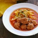 食べたらロールキャベツ?豚団子とキャベツのスープ煮