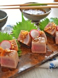 「炙り鮪の葱ソース」焼肉のたれを和風にチェンジ