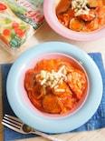 春雨でとろ〜りチーズのトマトソースパスタ風