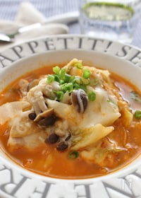 『食べるスープ、チーズタッカルビ風』