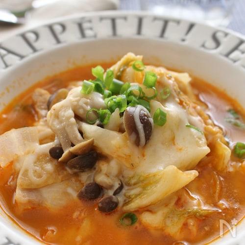 食べるスープ、チーズタッカルビ風