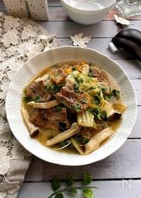 『カリッとバラ肉ととろ~り白菜のスープ煮』