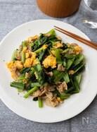 小松菜と豚肉の醤油炒め【簡単・やみつきおかず】