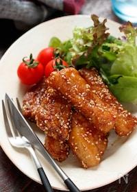 『豚バラ(むね肉)竜田の甘辛揚げ【#作り置き#お弁当】』