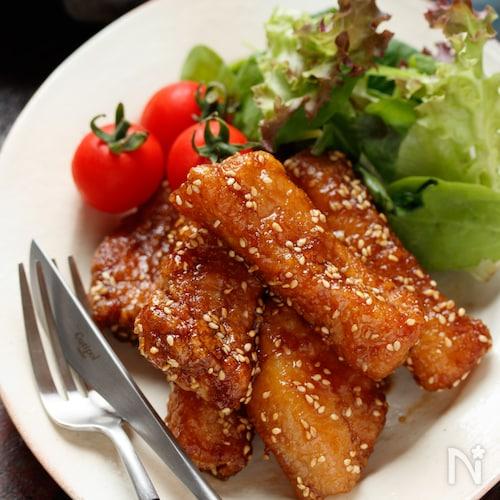 豚バラ(むね肉)竜田の甘辛揚げ【#作り置き#お弁当】