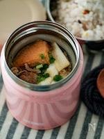 厚揚げで煮崩れなし!スープジャーで肉豆腐弁当