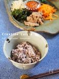 五穀米de茹で野菜&お肉のビビンバおかず