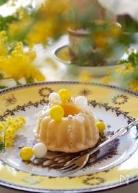 『【ホットケーキミックス使用】簡単ミモザケーキ』