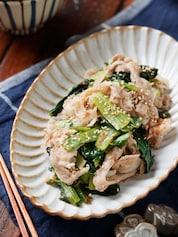 小松菜と豚バラの塩しょうが蒸し【#簡単 #時短 #お弁当】
