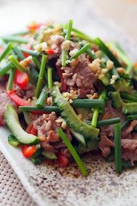 ゴーヤと豚肉のエスニックサラダ