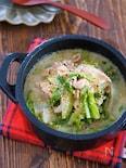 煮るだけ3分♪『豚バラ白菜のコクうま♡ごま味噌スープ』
