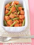 にんじんとインゲンのサブジ カレー風味のインドの家庭料理♪