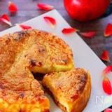 りんごのキャラメリゼが美味♡クランブルチーズケーキの作り方