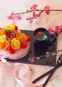 『女の子のためのお花🌸寿司』