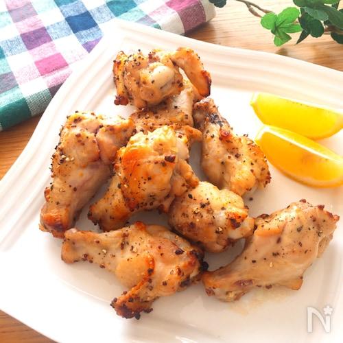オーブン任せのおつまみ♡手羽元の粒マスタードうま塩ペッパー