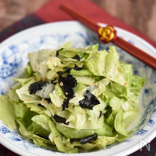 レタスと海苔のやみつきサラダ