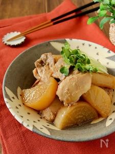 冷凍保存*しみしみ鶏大根のめんつゆ煮