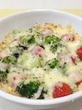 ミニトマトとブロッコリーのチーズ焼き