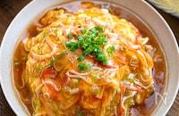 【カニカマ天津飯】とろ〜り餡たっぷり♬︎おてがる中華♬︎