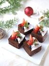 フライパンで簡単!クリスマスチョコケーキ【型・オーブン不要】