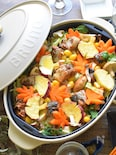 <BRUNO>食卓で香り広がる♪さば缶と秋野菜のバター蒸し焼