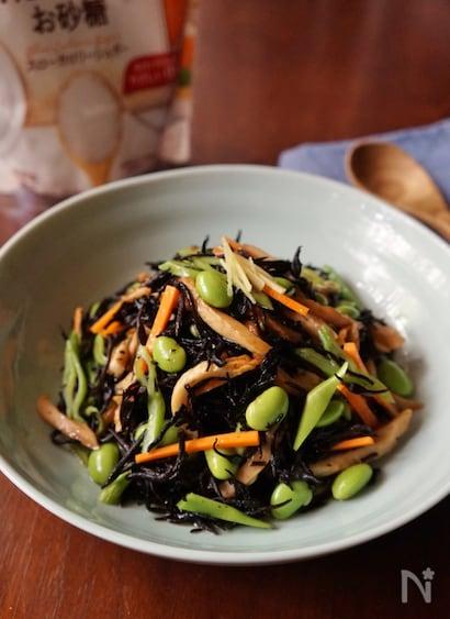 作り置きにも◎枝豆とひじきのサラダ【適糖生活】