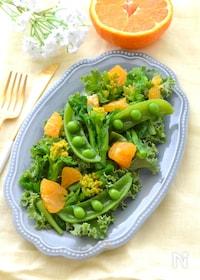 『春野菜と柑橘の美容サラダ』