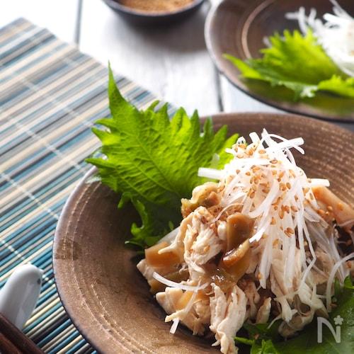 【驚きの柔らかさ】鶏ささみと長ねぎ、ザーサイの中華風あえもの