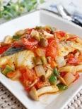 白身魚のラタトゥイユ、軽い煮込み