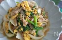 シャキッと玉ねぎ♪豚肉と卵の中華炒め