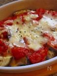 茄子のトマトソースチーズ焼き♪