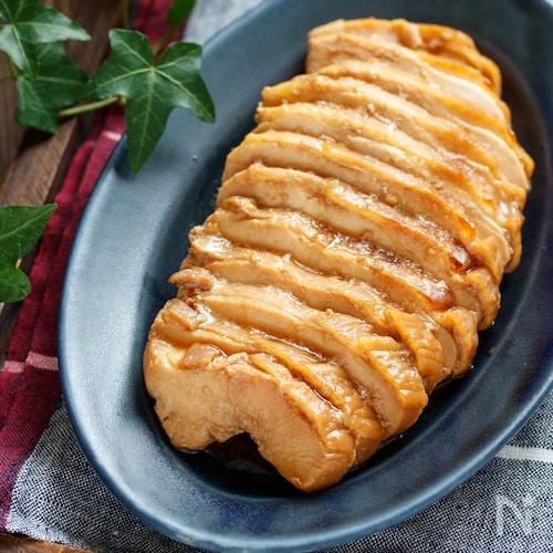 むね肉の甘辛しょうゆ漬け【#下味冷凍 #冷凍保存 #ポリ袋】