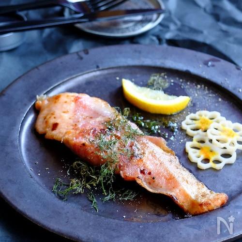 簡単オシャ飯☆鮭のサルティンボッカ!