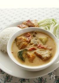 『タイ風味のスパイスペーストで!豚肉と夏野菜のレッドカレー』
