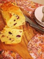 ラム酒香るドライフルーツとナッツのパウンドケーキ