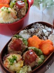 【15分弁当】ピーマンの肉詰めとポテトサラダ弁当‼️