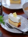 ミキサーで混ぜるだけ!バスク×レア、2層のバスレチーズケーキ