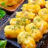 【残ったポテサラをアレンジ!!】ちくわとポテトのチーズ焼き