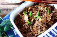 ご飯がすすむ!牛ごぼう舞茸のしぐれ煮【作り置きOK】