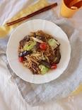 これだけで大満足!野菜たっぷり☆牛肉の中華風焼きそば